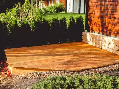 Terraced deck